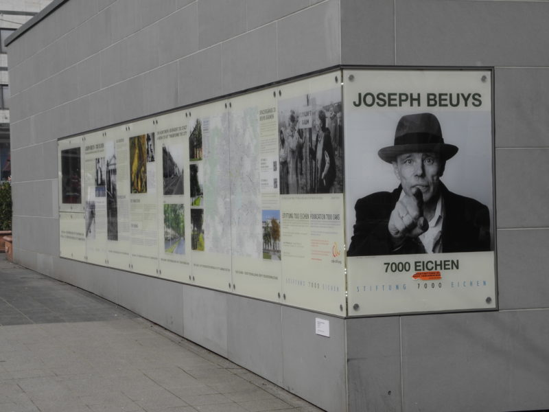 Showcase of the 7000 Oak Foundation on Friedrichsplatz, Kassel on the 7000 Oak Project