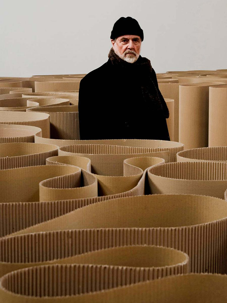 michelangelo pistoletto, the labyrinth (1969-2007) corrugated cardboard