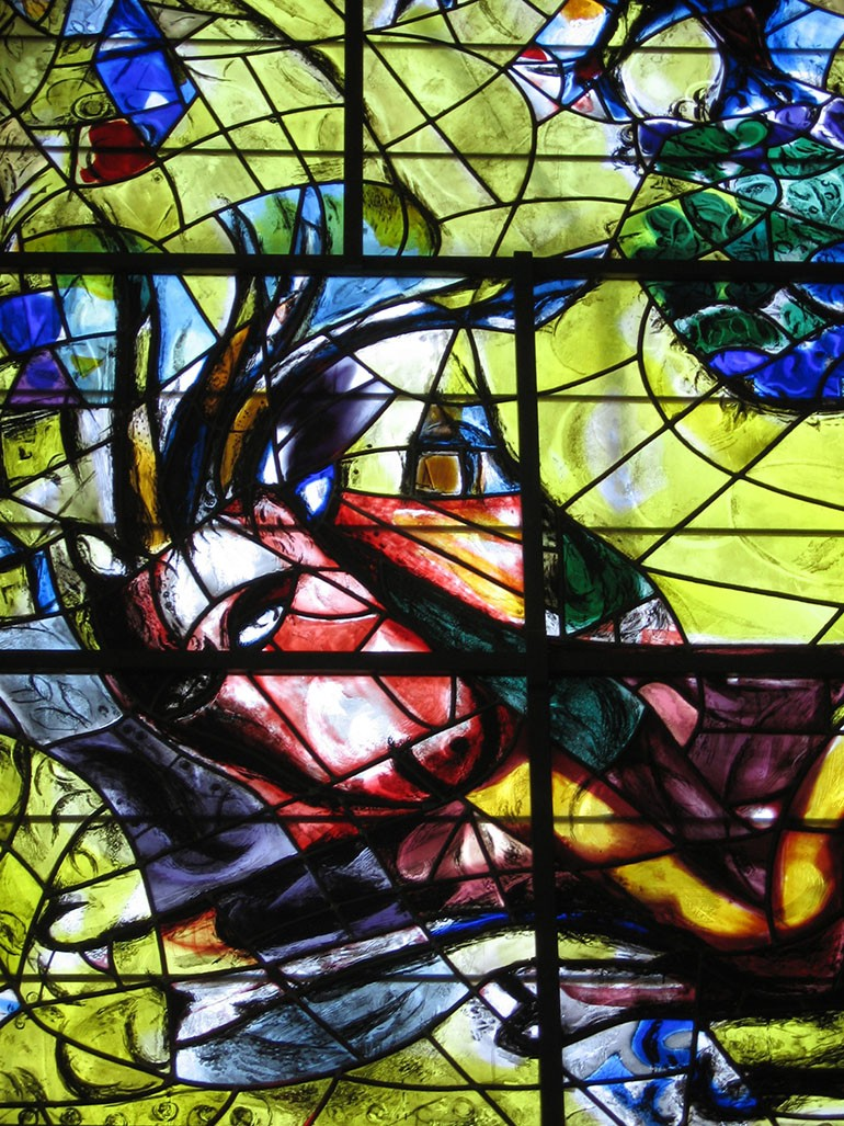 Marc Chagall & His 12 stained glass windows in Jerusalem