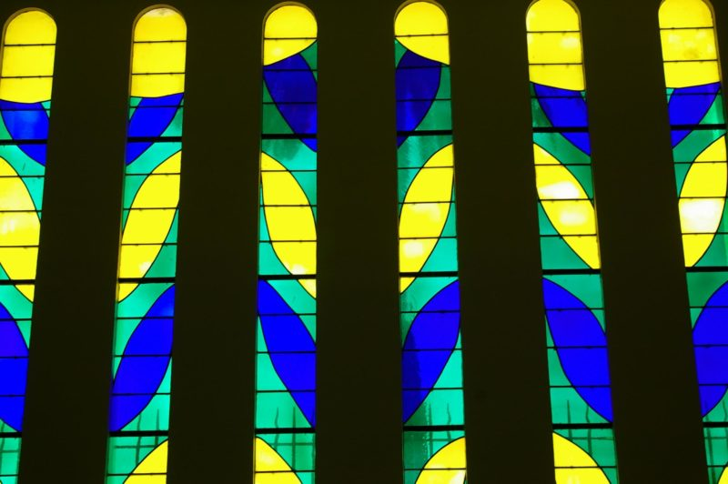 Stained glass window by Henri Matisse in Chapelle du Rosaire de Vence, Vence, Frankreich