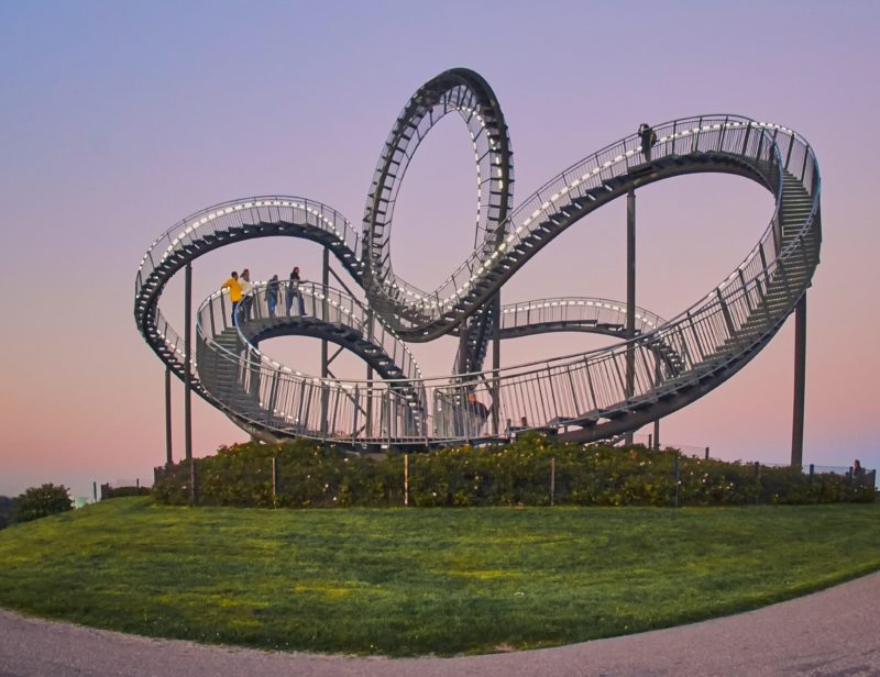 Heike Mutter & Ulrich Gent - Tiger & Turtle – Magic Mountain, 2009-2011, walkable outdoor sculpture, zinc-plated steel, grates, 20,6 x 48,2 x 34,4m, length of the track 220m