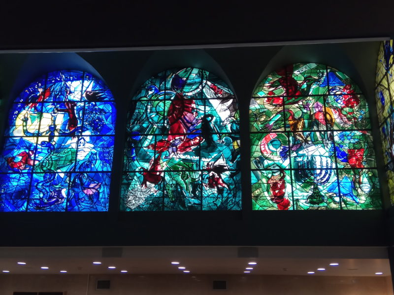 Marc Chagall – Eastern view of the Hadassah Hospital, Jerusalem, Israel, stained glass window