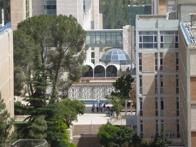 View of from the Hadassah Trail, Ein Kqrem, Jerusalem, Israel - synagogue with Chagall windows