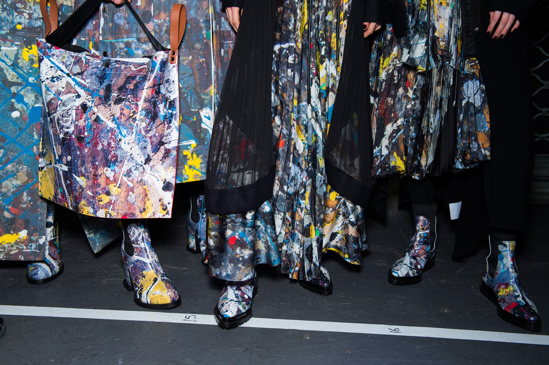 sacai x Jackson Pollock Studios
