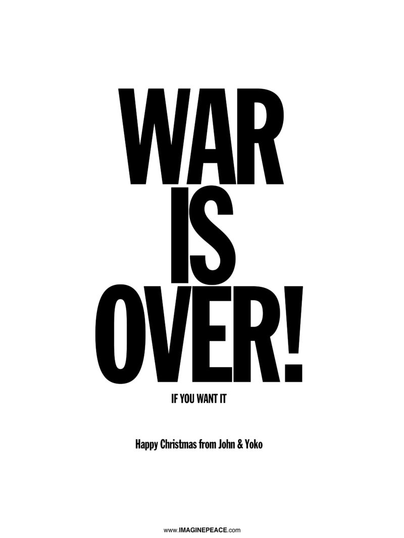 War is Over poster in English