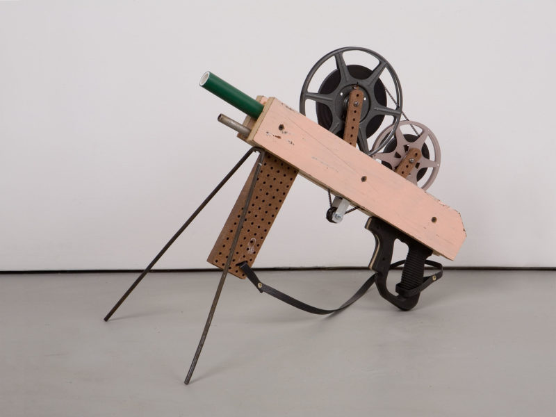 Francis Alÿs (in collaboration with Angel Toxqui) - Untitled (gun number 37), 2005-2006, wood, metal, plastic, film reels, film
