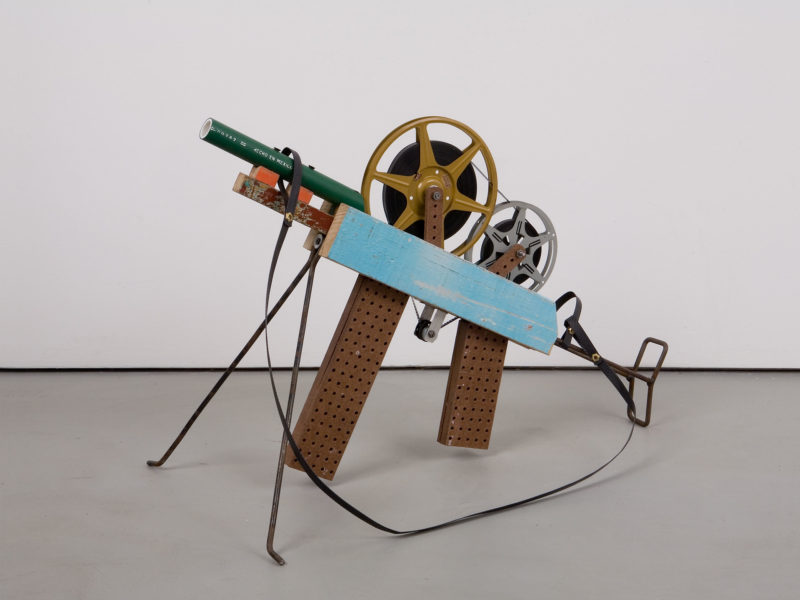 Francis Alÿs (in collaboration with Angel Toxqui), Untitled (gun number 53), 2005-2006, wood, metal, plastic, film reels, film