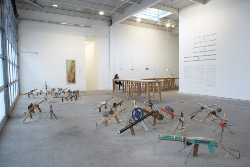 Installation view of Francis Alÿs - Sometimes doing something poetic can become political and sometimes doing something political can become poetic, David Zwirner, New York, 2007.