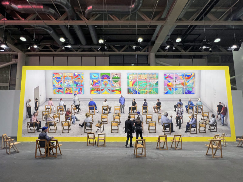 David Hockney – Pictures at an Exhibition, 2018/2021, photographic drawing printed on paper, 4.7 x 15.2 m (15 ft. 7 in x 50 ft.), unique exhibition copy